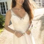 Brautkleid von Kleemeier von vorne mit Schleppe