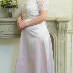 Brautkleid vorne_Hochzeit grün