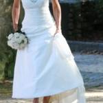 Hochzeitskleid ganz vorne